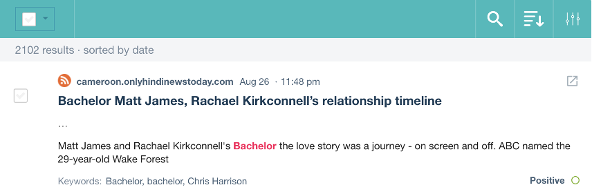 """Post reads """"Matt James and Rachael Kirconnell's Bachelor the love story was a journey - on screen and off. ABC named the 29-year-old Wake Forest..."""
